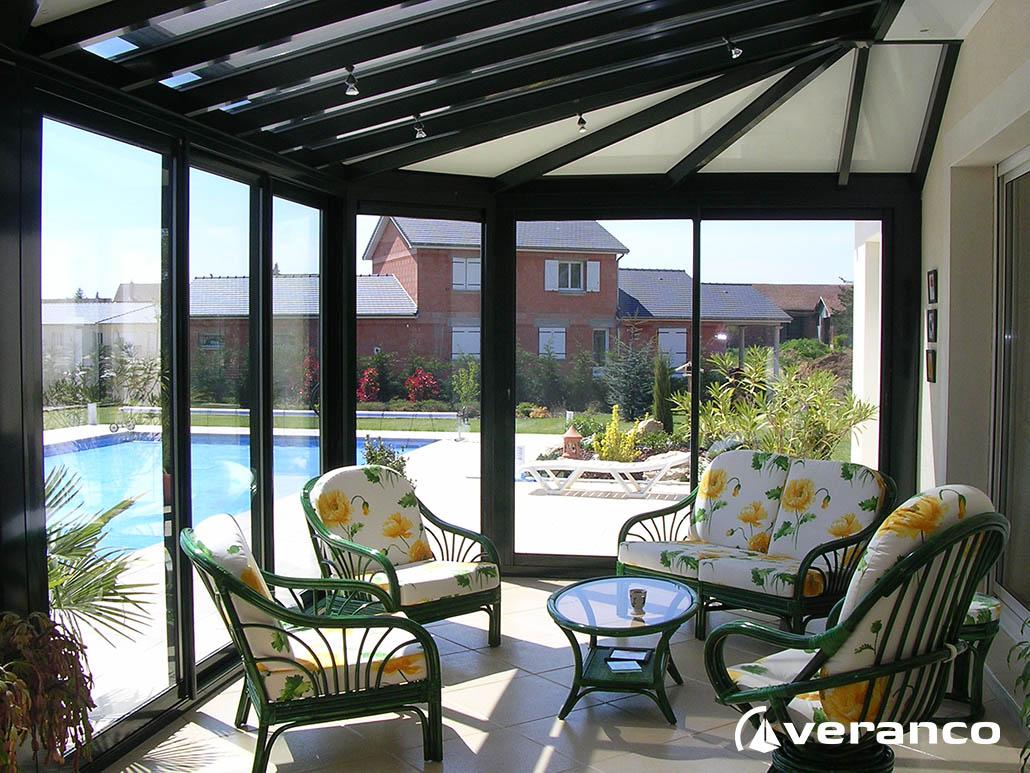veranda piscine. Black Bedroom Furniture Sets. Home Design Ideas
